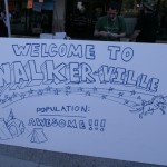 """On the Square, a bunch of people that the City of Madison allowed to set up a little tent town hung out in """"Walkerville"""" to protest Gov. Scott Walker"""